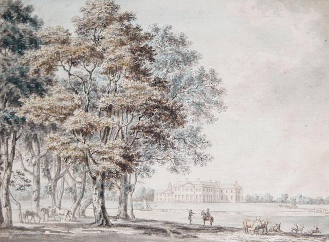 Paul Sandby, R.A. (British, 1730-1809) View of Wynnstay, the Seat of Sir William Wynn