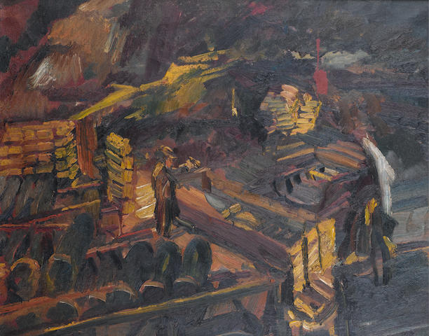 David Bomberg (British, 1890-1957) Bomb Store, No.3 59 x 74 cm. (23 1/4 x 29 in.)