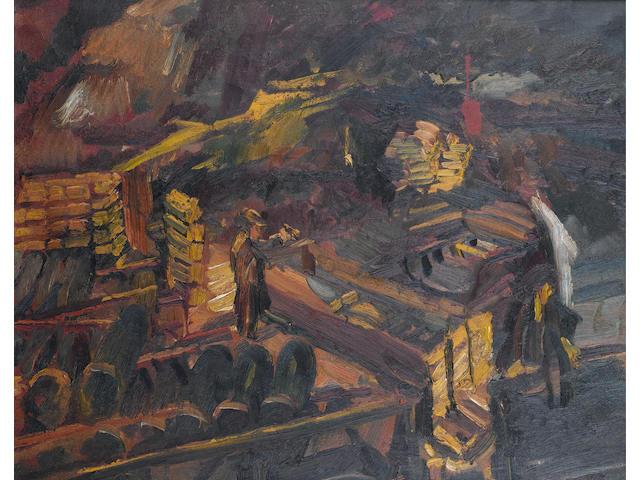 David Bomberg (British, 1890-1957) Bomb Store, No.3 59 x 74 cm. (23 1/4 x 29 in.)