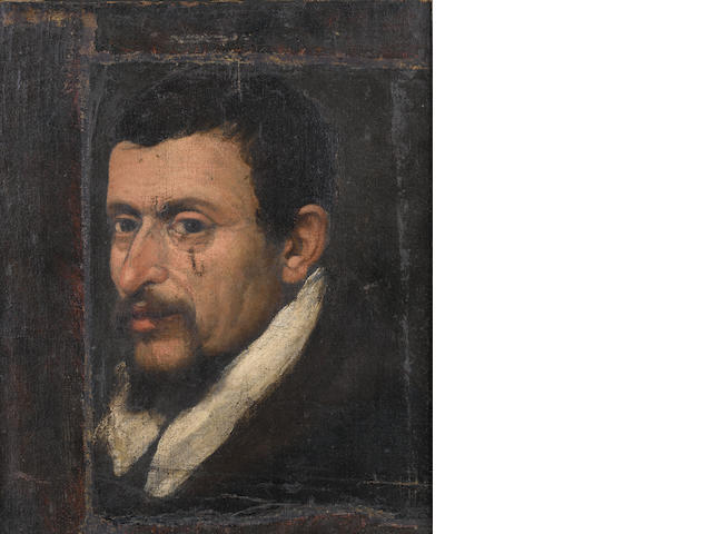 Follower of Bartolomeo Passarotti (Bologna 1529-1592) Portrait of a gentleman, bust-length,