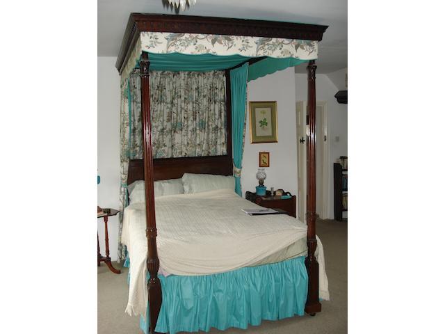 A Georgian style mahogany tester bed,