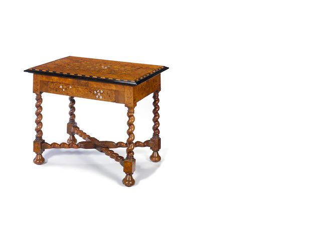 Marquetry Table - arriving with Ward Thomas