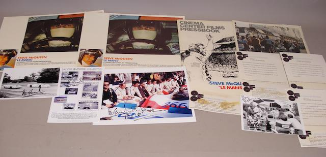 A lot of items relating to the Le Mans film,