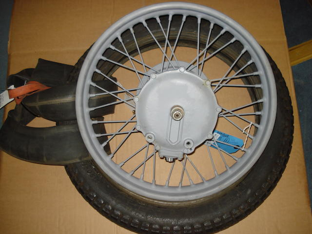 A reconditioned Nimbus rear wheel and transmission unit