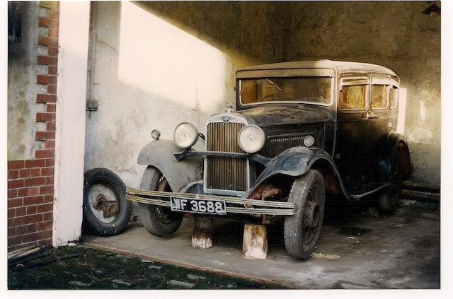 Single family ownership from new,1930 Morris Isis 17.7hp Saloon  Chassis no. IS3019 Engine no. JB1322