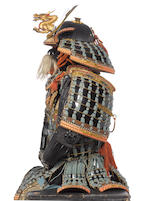 An exceptional mogami do tosei gusoku armour Edo Period, 18th to 19th century; helmet signed Myochin...Naga, late Muromachi/early Momoyama Period, 16th century