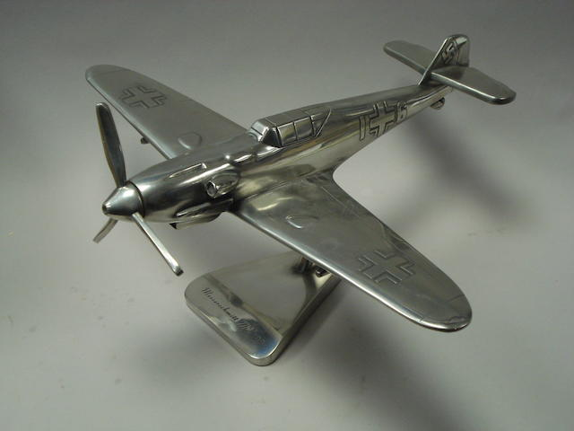 A desk model of a Messerschmitt 109,