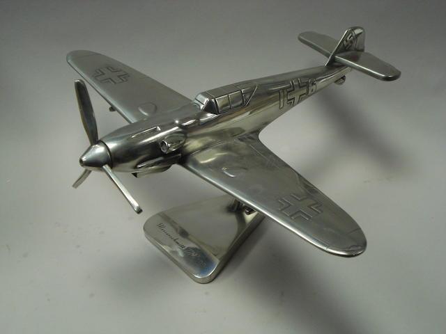A desk model of a Messerschmitt 109,