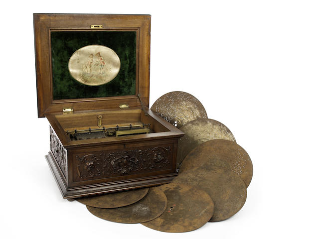 An 11.7/8-inch Symphonion disc musical box, the 'Classical Rococo', style 25D,