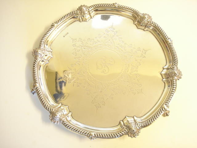 An Edward VII silver salver By Cooper Brothers & Sons, Sheffield 1907