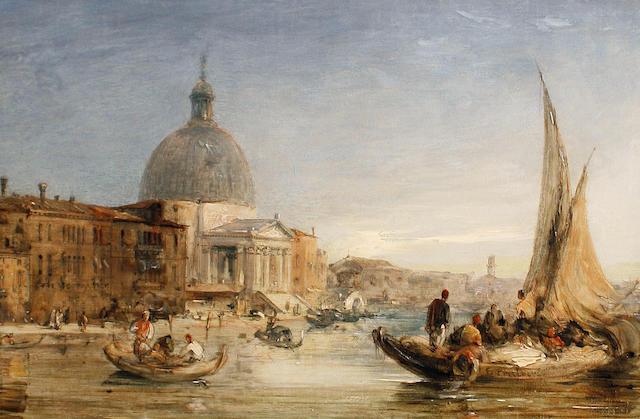 Edward Pritchett (British, 1828-1864) Santa Maria della Salute, Venice; Gesuati Church, Zattere, Venice each 20 x 30cm (7 7/8 x 11 13/16in).(2)