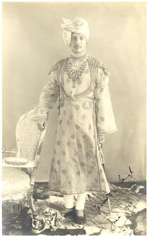 PANNA Three portraits of the Sikh ruler of Panna, HH Maharaja Mahendra Sir Yadvendra Singh Ju Deo Bahadur