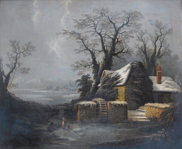 Circle of George Smith of Chichester (Chichester 1714-1776) A winter landscape