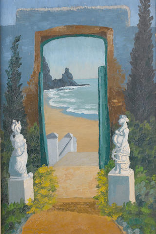 Sir Cedric Morris (British, 1889-1982) The Door to the Beach 76 x 51 cm. (30 x 20 in.)