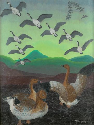 Sir Cedric Morris (British, 1889-1982) Wild Geese 24 x 18 in.