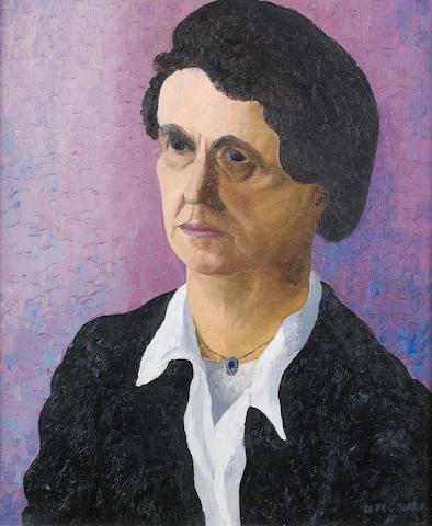 Sir Cedric Morris (British, 1889-1982) Portrait of E Picton Turberville 24 x 20 in.
