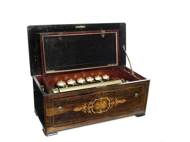 A bells-in-sight musical box, by Bremond, circa 1867,