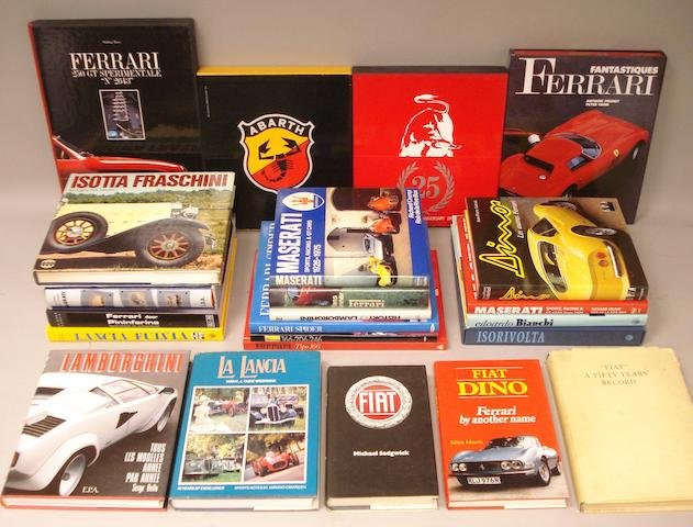 Books relating to prestige Italian marques,