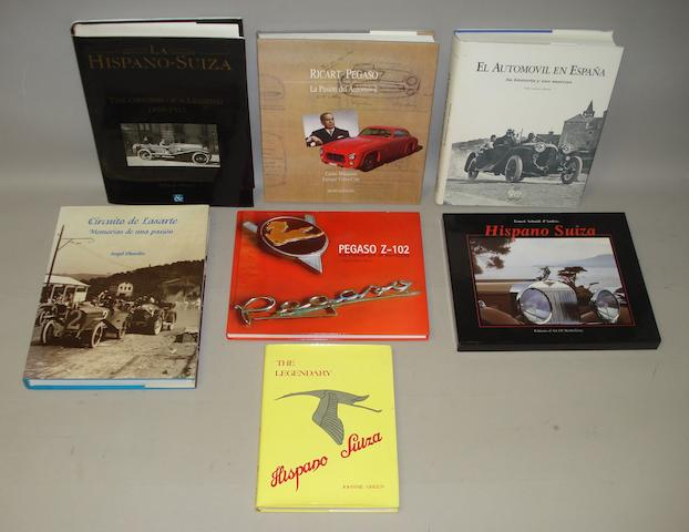 Books relating to Hispano Suiza and other Spanish marques,