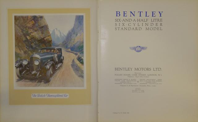 A Bentley 6½ Litre sales brochure,
