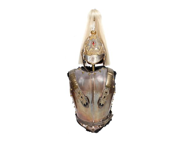 Life Guards  Victorian Officer's Helmet, Back And Breast Plates