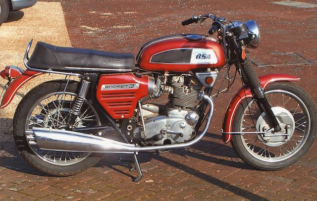 1971 BSA 740cc Rocket III Frame no. PC00633 A75R Engine no. PC00633 A75R