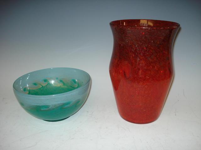 A Monart bowl  Shape AF