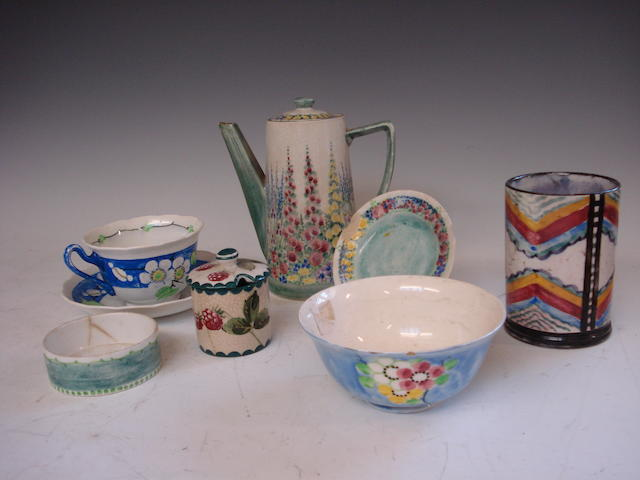 A collection of Mak Merry Scottish pottery Early 20th century