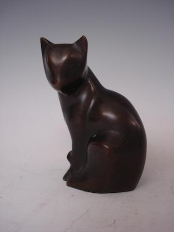 Jill Sanders A bronze cat