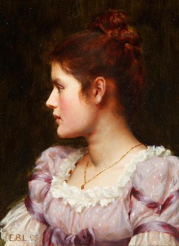 Edmund Blair Leighton, ROI (British, 1853-1922) A Study