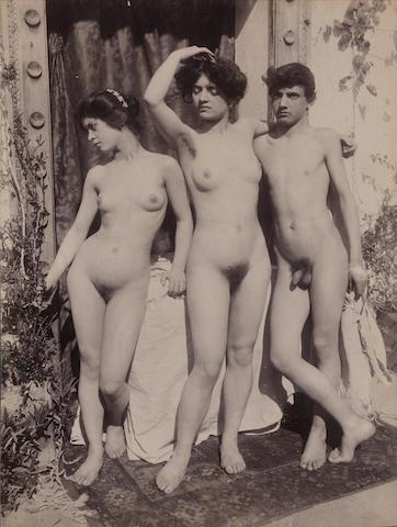Guglielmo von Plüschow (German, 1852-1930) Two Nude Studies, c. 1900