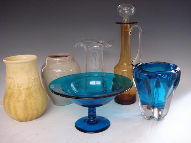 A collection of Art Glass and pottery