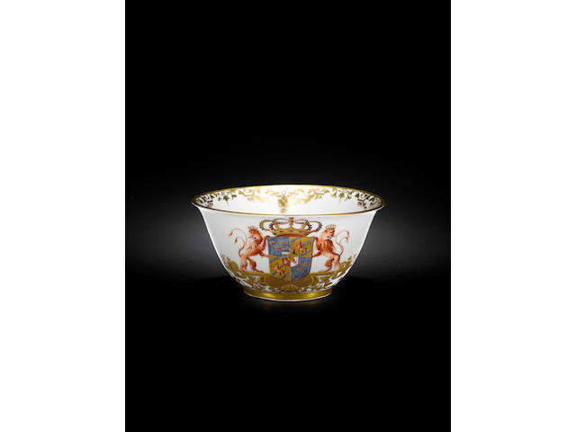 A Meissen waste bowl from the service for Queen Ulrike Eleonora of Sweden circa 1732