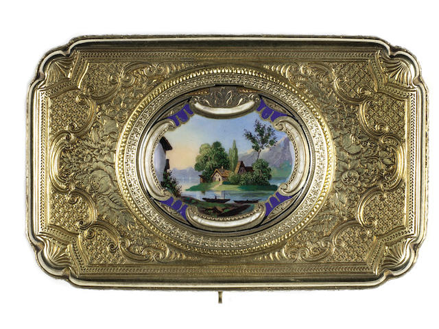 A silver-gilt singing bird box, by Charles Bruguier, circa 1843,