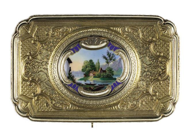 A silver-gilt singing bird box, by Charles Bruguier, circa 1843,