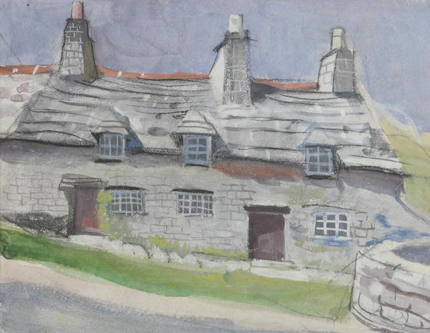 Anne Redpath, OBE RSA ARA LLD ARWS ROI RBA (British, 1895-1965) 'Cotswold Village'