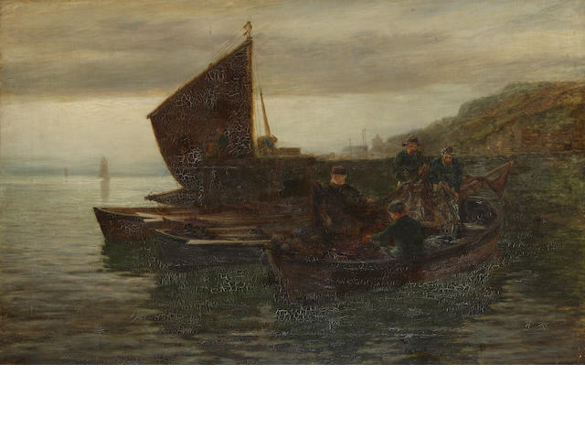 Colin Hunter, ARA RI RSW RE (British, 1841-1904) Emptying nets