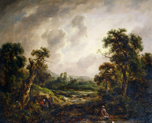 Attributed to Richard H. Hilder (British, 1813-1852) Approaching storm