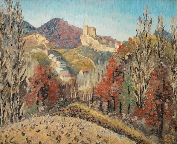 Sir Cedric Morris (British, 1889-1982) Landscape in Spain 61 x 73 cm. (24 x 28 3/4 in.)