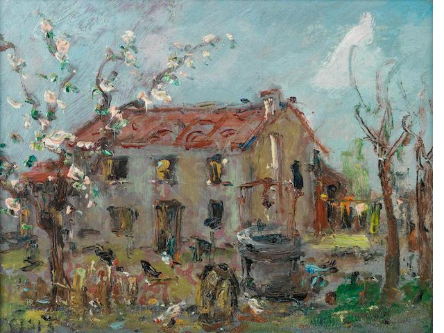 Filippo de Pisis (Italian, 1896-1956) Paesaggio
