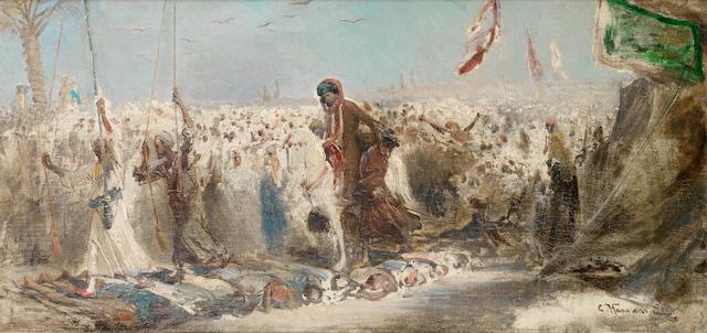 Konstantin Egorovich Makovsky (Russian, 1839-1915) Oriental procession