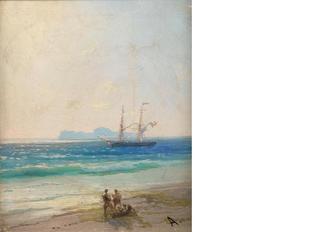 I. K. Aiwazowsky, See landscape with figures