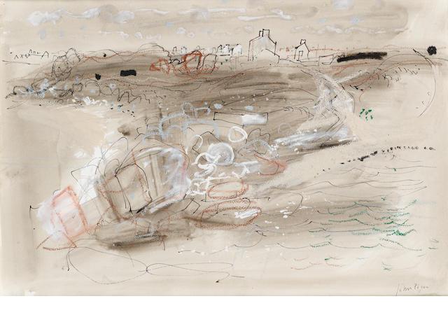 John Piper C.H. (British, 1903-1992) Brittany Foreshore 35 x 52 cm. (13 3/4 x 20 1/2)