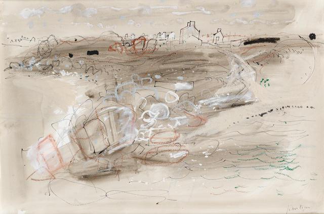 John Piper C.H. (British, 1903-1992) Brittany Foreshore 35 x 52 cm. (13 3/4 x 20 1/2 in.)