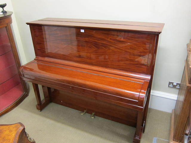 A Steinway Model V mahogany-cased upright piano, serial number 284249