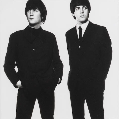 David Bailey, John Lennon & Paul McCartney, 1965, printed 1991, edition 62, framed silver print