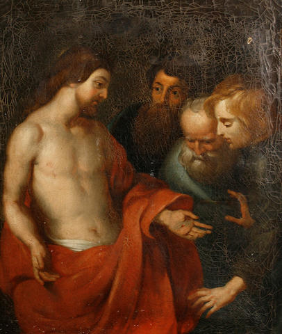 After Sir Peter Paul Rubens, 19th Century The Incredulity of Saint Thomas