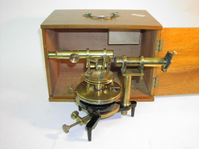 A Philil Harris brass spectroscope,  English,  early 20th century,