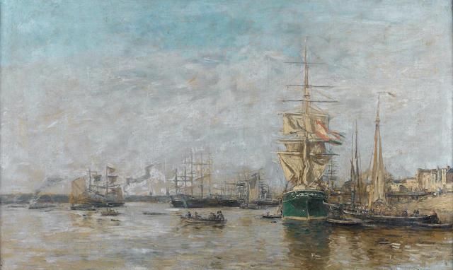 Eugène Louis Boudin (French, 1824-1898) Porte de bateaux