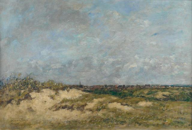 Eugène Boudin (1824-1898) Berck, les dunes par gros temps